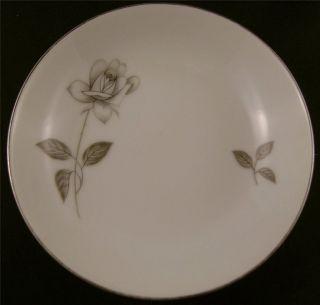 Queens Royal Fine China Rosebud Platinum Rose Fruit Bowl Small Japan