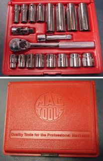 MAC Tools 3/8 Drive Socket Set , Deep & Shallow Sockets, Ratchet