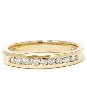 Diamond Channel Set 14k Yellow Gold Anniversary Wedding Ring