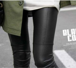 Sexy Ladies Faux Leather Black Leggings Fashion Pants Black Trousers
