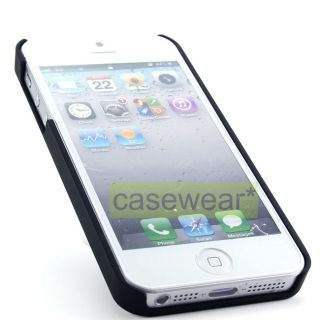 your Apple iPhone 5 with Black Deluxe Diamond Gem Slim Hard Case