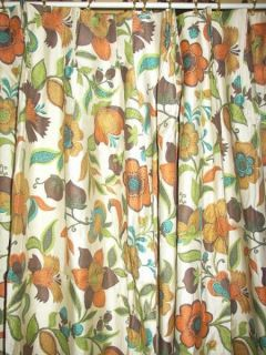 Antique Vintage Victorian Chic French Country Floral Drapes Curtains