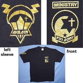 ministry piss army air borne black t shirt large new