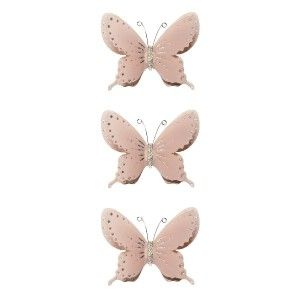 Butterfly Garden 175 Big Wall Mural Decals Pink Flowers Room Decor 3D