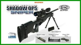 UTG Type 96 Black Airsoft Sniper Rifle 4x32mm Scope airsoft rifles