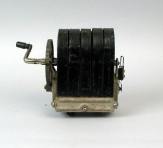 Antique Hand Crank Magneto Telephone Ringer Generator for Wood Wall