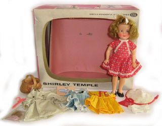 Shirley Temple Doll In Original TV Gift Carry Box Clothing Accessories