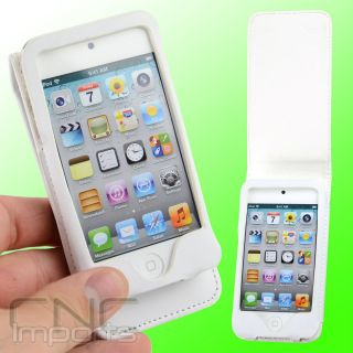 LEATHER CASE with SCREEN SAVERS FOR APPLE IPOD TOUCH iTouch 4G 4th Gen