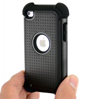 Impact Black Hard Case Cover iPod Touch 4th Gen 4G Accessory