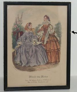 Miroir Des Modes~The Mirror Modes~Fashion Plate from Colthier in Paris