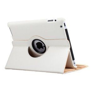 360 Degree Rotating Leather Case Smart Cover for Apple iPad 3