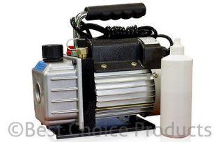 3CFM 1/4HP Rotary Vane Vacuum Pump HVAC Air AC A/C R410a R134a etc
