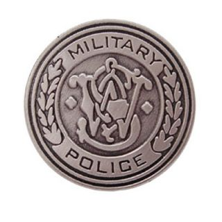Military Police Tie Hat Pin Shooting Gun 9mm Ar15 Tactical