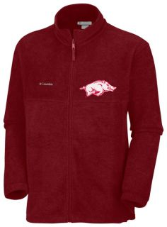 Arkansas Razorbacks Dark Red Columbia Flanker Full Zip Fleece Jacket