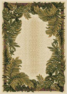Leaves Black Oriental Area Rug 8x11 Persian Carpet 033 Actual 7 8 x