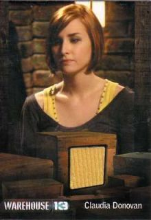 13 relic costume insert card Allison Scagliotti as Claudia Donovan