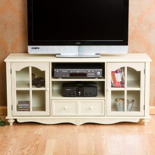 Shabby Cottage Chic Style 52 TV Entertainment Cabinet Media Center