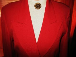 AUSTIN REED JACKET W GOLDEN LOGO BUTTONS RED WOOL LINEDS12 MADE IN