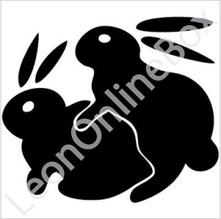 Bunny Rabbits Humping Sexy   Funny Decal Vinyl Car Wall Laptop Sticker
