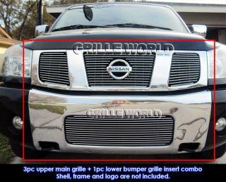 04 07 Nissan Titan Armada Billet Grille Combo Upper Low