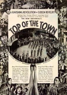 Top Town Universal Movie Ralph Murphy Charles Rogers Lou Brock Armetta