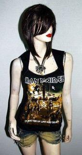 Iron Maiden Metal Punk Rock DIY Pentagon Neckline Vest Top Shirt