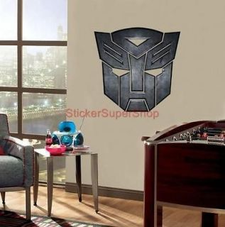 HUGE TRANSFORMERS LOGO Decal Removable WALL STICKER 4 Kids Home Decor