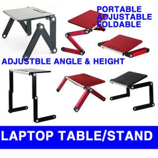 folding laptop table desk stand adjustable angle 4 notebook tablet pc