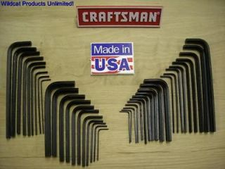 CRAFTSMAN 40 PIECE HEX KEY SETS INCLUDES SAE & METRIC