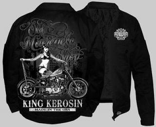 King Kerosin Work Jacket Rat Rod Lucky Rockabilly Hot Rod 13 (NEW) L