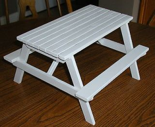 Crafted Picnic Table for 18 Dolls (Perfect for American Girl Dolls