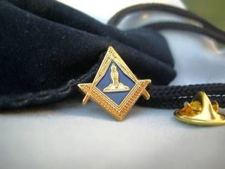 New Masonic Lodge Senior Warden Lapel Pin Badge and Gift Pouch