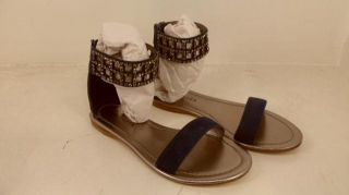 Apepazza Womens Basilan Ankle Strap Sandal Blue 7 $130 Value