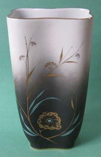 Art Deco Stockmayer Gold Chinese Cattail Vintage Porcelain Asian Vase