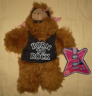 Vtg 1988 Alf Burger King Stuffed Plush Doll 11 Toy With Guitar Tag