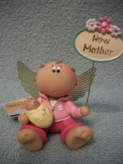 Angel Cheeks Guardian Figurine New Mother By Russ Berrie With Tag And