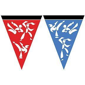 Karate Black Belt Martial Arts Party Flag Banner Sign