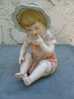 Baby Blond Girl Piano Baby Bonnet Polka Dot Romper Andrea Sadek TLC