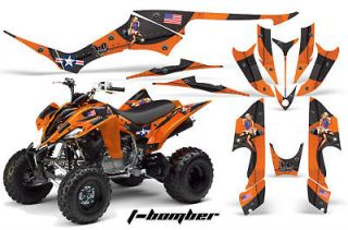amr racing graphics kit yamaha raptor 350 stickers bomb time