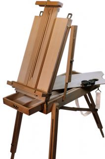 New French Easel & Art Oil Acrylic Painting Complete Set Paints