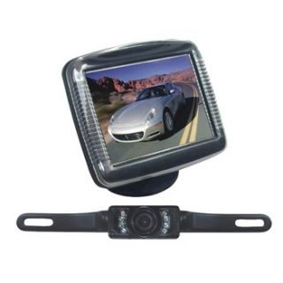 License Plate Mount Rearview Night Vision Backup Camera