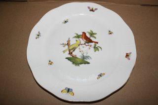 Herend China Rothschild Bird 157 Round Chop Plate 11 25D