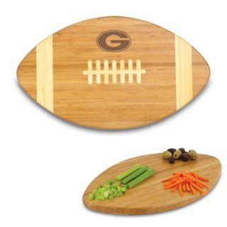 an image to enlarge georgia bulldogs bamboo touchdown cutting board