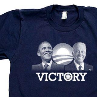 BARACK OBAMA JOE BIDEN Democrat president VICTORY SCREEN PRINTED Tee