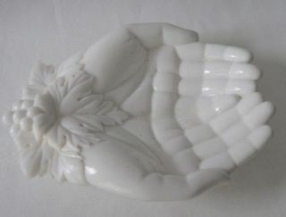 Westmoreland or Atterbury White Milk Glass Victorias Hands Dish Bowl