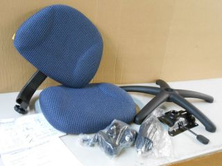Boss Fabric Deluxe Posture Armless Task Chair Blue B315