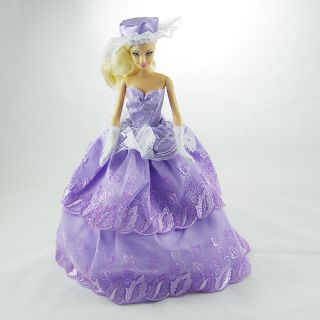 Princess Wedding Clothes Party Dress Gown for Barbie Doll 014YO
