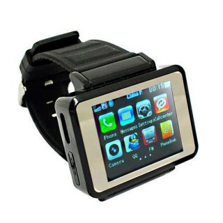 New Watch Cell Phone GSM Wristwatch Touchscreen ATT T Mobile MP4 Spy