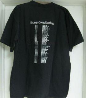 Barenaked Ladies Maroon Concert T Shirt Black XL Thumbs Up