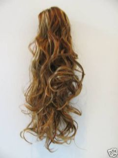 Auburn Curly Ponytail Clip on 5BRB Hair Extension